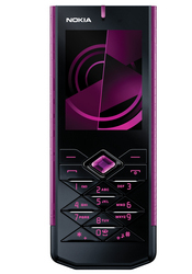 The Nokia 7900 Crystal Prism is a luxurious mobile phone with a diamond-cut design and a keypad that houses a crystal in the center.