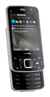Nokia's N96 is a multimedia phone intended for video and TV, and it will come with search application powered by Google.