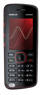 Nokia's 5220 XpressMusic features up to 24 hours playback time and was designed to work with the Nokia Music Store.