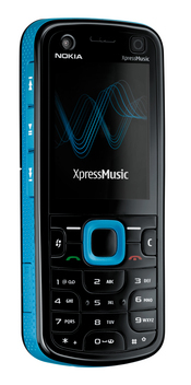 The Nokia 5320 XpressMusic uses a 'Say and Play' feature to access a favorite artist or song.