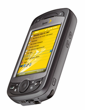 Sprint's EVDO Rev. A-equipped Mogul handset can download at speeds as high as 1.4 megabits per second.