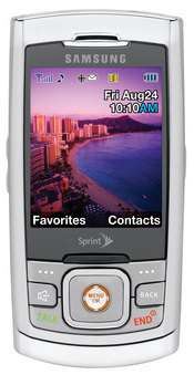 Sprint's M520 by Samsung is a slim slider phone with navigation, search, mobile music, and mobile TV capabilities.