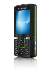 The Sony Ericsson K850 Cyber-shot phone has a built-in 5 megapixel camera with auto focus and flash.