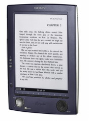 Sony's e-book Reader sells for about 300 dollars and holds about 160 eBooks or hundreds more with optional removable memory cards.