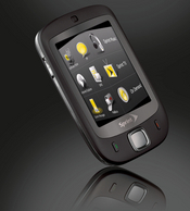 Sprint's HTC Touch has a full touch screen, multimedia capabilities, and it runs on Microsoft's Windows Mobile 6 operating system.