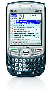 The Palm Treo 755p from Verizon Wireless is a an improvement to its predecessor, the Treo 700p, featuring a sleeker design with an internal antenna.