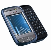 The Verizon Wireless XV6800 smartphone resembles a mini-computer with a hidden slide-out QWERTY keyboard.