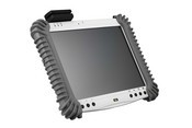 The WebDT 310 is a rugged mobile tablet PC with a 10.4-inch touch screen display and comes with the option of an integrated barcode scanner, card reader, and camera.