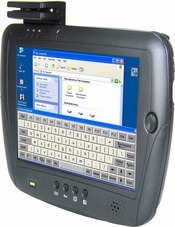 The WebDT 360 is a rugged mobile tablet PC with an 8.4-inch touch screen display and comes with the option of an integrated barcode scanner, card reader, and camera.