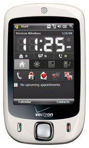 Verizon's new smartphone features EV-DO data access and a touchscreen interface.