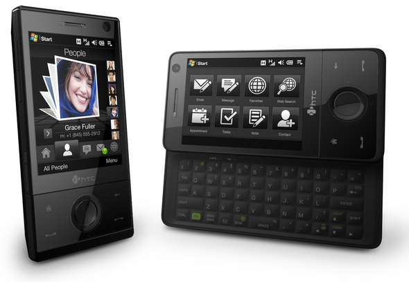 HTC's latest device features a 5-row sliding QWERTY keyboard, a touch screen, 3G support, and has integrated WiFi and GPS.
