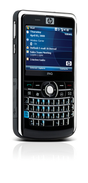 Hewlett-Packard's smartphone packs a QWERTY keyboard, integrated Wi-Fi, GPS, and runs Windows Mobile 6.1 Professional.