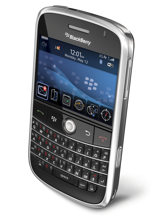 RIM's latest handset features Wi-Fi, QWERTY keyboard, Intel XScale 624 MHz processor, microSD external card slots, and can sync with Apple's iTunes.