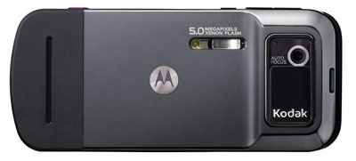Motorola's and Kodak's Motozine ZN5 features a 5-megapixel camera, built-in Xenon flash, and auto-focus features.