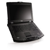 The Dell Latitude E6400 XFR's shell is made from materials used in ballistic armor and can withstand a 4-foot drop while powered down.