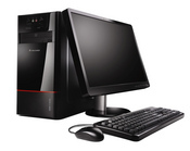 The desktop comes bundled with the ThinkVision L195 LCD monitor and has a starting price of $399.