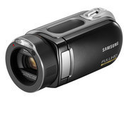 The camcorders include the HMX-H106, HMX-H105 and HMX-H104, which have storage capacities of 64 GB, 32 GB and 16 GB, respectively. In terms of recording times, the largest drive holds 12 hours of high-definition video, the middle drive six hours and the smallest device three hours.
