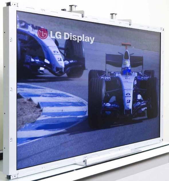 With a 480 refresh rate per second capability, the TV can show crystal-clear pictures of racing cars and other images that typically cause motion blur on LCD TVs.