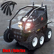 Black-I Robotics expects to ship its LandShark robot to Iraq this year to protect the buddies of the company founder's fallen son.