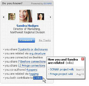 Social Networks and Discovery (SaND), an application that combines social expertise discovery and social networking.