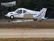For its first flight, the Transition was flown by Phil Meteer, a retired Air Force Colonel at Plattsburgh International Airport in Plattsburgh, NY. The chase aircraft was piloted by Giora Guth.
