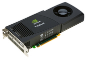 Nvidia's Tesla C1060 card slips into a PCIe slot for delivering high-performance computing to workstations. The card delivers 1 teraflop of power for $1,699.