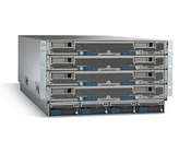 Cisco's entry  into the server business includes networking, virtualization, storage, and server management  software pre-installed. The 4-way or 8-way blade servers have consolidated access to SAN and NAS fabrics and are based on Intel's Xeon 