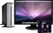 The Open(3)'s basic configuration includes the Mac OS X Leopard v10.5, an Intel 2.8 GHz Core 2 Duo E7400 processor, 2GB of system memory, a 500 GB hard drive and a Nvidia GeForce 8400GS graphics card. 