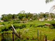 A view of the surroundings in Lambarene, Gabon at the Albert Schweizer Hospital