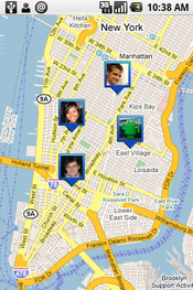 Google's social mapping software lets people with mobile phones and other wireless devices automatically share their whereabouts with family and friends.