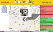 Micro-Blog users at the campus can now see geo-tagged information from other users on their mobile devices.