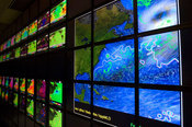 The new 128-screen hyperwall-2 system, at NASA's Ames Research Center in Calif., can render one quarter billion pixel graphics.
