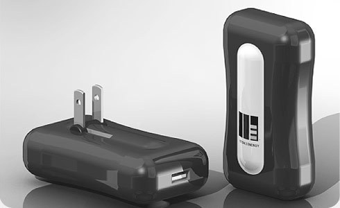 By harnessing kinetic energy, M2E Power's cell phone charger will give users up to 60 minutes of talk time.