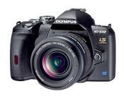A DSLR for those on a budget, the Olympus Evolt E-510 sports an ample 2.5-inch LCD display.