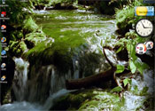 The Microsoft DreamScene: ''Rushing water in a forest stream.''