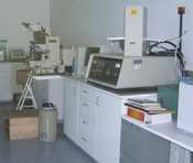 Analytical equipment including an electron microscope.