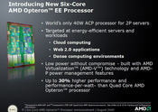 The six-core server processor joins AMD's Opteron family.