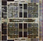 This die shot identifies the different functional units of Barcelona, AMD's upcoming quad-core Opteron.