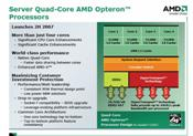 Block diagram of Barcelona, the upcoming quad-core Opteron.