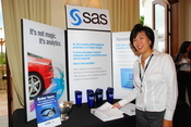SAS Institute's booth at the 2009 InformationWeek 500 conference.