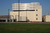 Another view of Google data center. Note the basket for playing Frisbee golf.