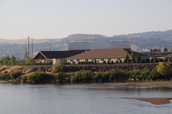 The main administrative building at Google's data center in The Dalles, Ore., sits on the banks of the Columbia River.