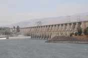 Another view of The Dalles dam.