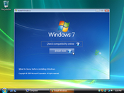 If you already have a Windows Vista installation, you can upgrade it directly by inserting the Windows 7 DVD while Vista is running. Otherwise, skip to step 6 to begin the process from a clean boot.