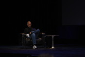 Apple CEO Steve Jobs gets set to demonstrate his new