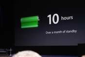 Battery life is 10 hours, standby power of one month.
