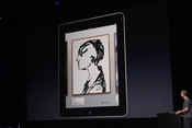 Brushes shows off its iPad app - very intuitive tools that artists have used in previous versions.