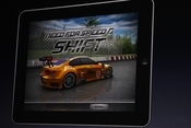 Electronic Arts shows off its iPad version of Need for Speed.