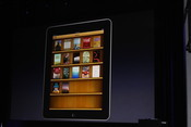 iBooks on the iBookshelf - Apple takes the metaphor literally in its newest store offering.