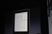 iBooks let you change the type size and the font of the text you're reading.